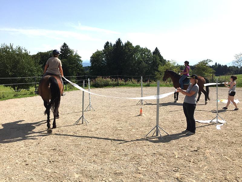 Rhythmische Sportgymnastik zu Pferd -